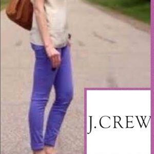 J. CREW toothpick ankle jeans. Purple. 29